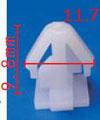 Крепежное изделие 11966 - Кузов (Молдинги), Кузов (Пороги), 87715-3K000 (877153K000)