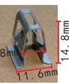 Крепежное изделие 12166 - Внутренняя отделка (Двери), 8T0853107, 8T0-853-107 (8T0853107)