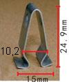Крепежное изделие 12186 - Кузов (Молдинги), Кузов (Пороги), 1J6-867-276 (1J6867276)