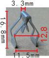 Крепежное изделие 12221 - Внутренняя отделка (Панель приборов), 1J0858137B, 1J0-858-137-B (1J0-858-137B; 1J0858137B)