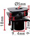 Крепежное изделие 23080 - Брызговики - Подкрылки, Кузов, 52115-0R030