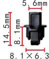 Крепежное изделие 23189 - Кузов (Двери), Кузов (Уплотнители), 3C0837975, 3C0-837-975 (3C0837975)