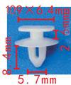 Крепежное изделие 23190 - Внутренняя отделка (Боковины), Внутренняя отделка (Двери), 6E0837732, 6E0-837-732 (6E0837732)