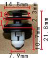 Крепежное изделие 23245 - Внутренняя отделка, 51-41-7-325-082 (51417325082)