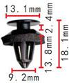 Крепежное изделие 23325 - Внутренняя отделка (Багажный отсек), A000-997-01-33 (A0009970133)