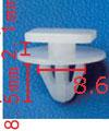 Крепежное изделие 11782 - Кузов (Крылья),Кузов (молдинги), Нет данных, 9114743