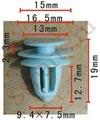 Крепёжное изделие 11360 - Внутренняя отделка;Внутренняя отделка (Двери), 91560-S9A-A01 (91560S9AA01), 91560-S9A-A01 (91560S9AA01)