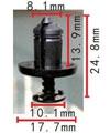Крепёжное изделие 11549 - Брызговики - Подкрылки;Кузов (Бампера), 7703072360